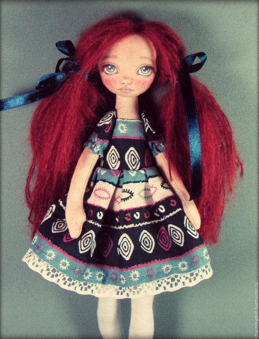 Коллекционные куклы ручной работы. Ярмарка Мастеров - ручная работа. Купить Авторская текстильная кукла. Handmade. Тёмно-синий