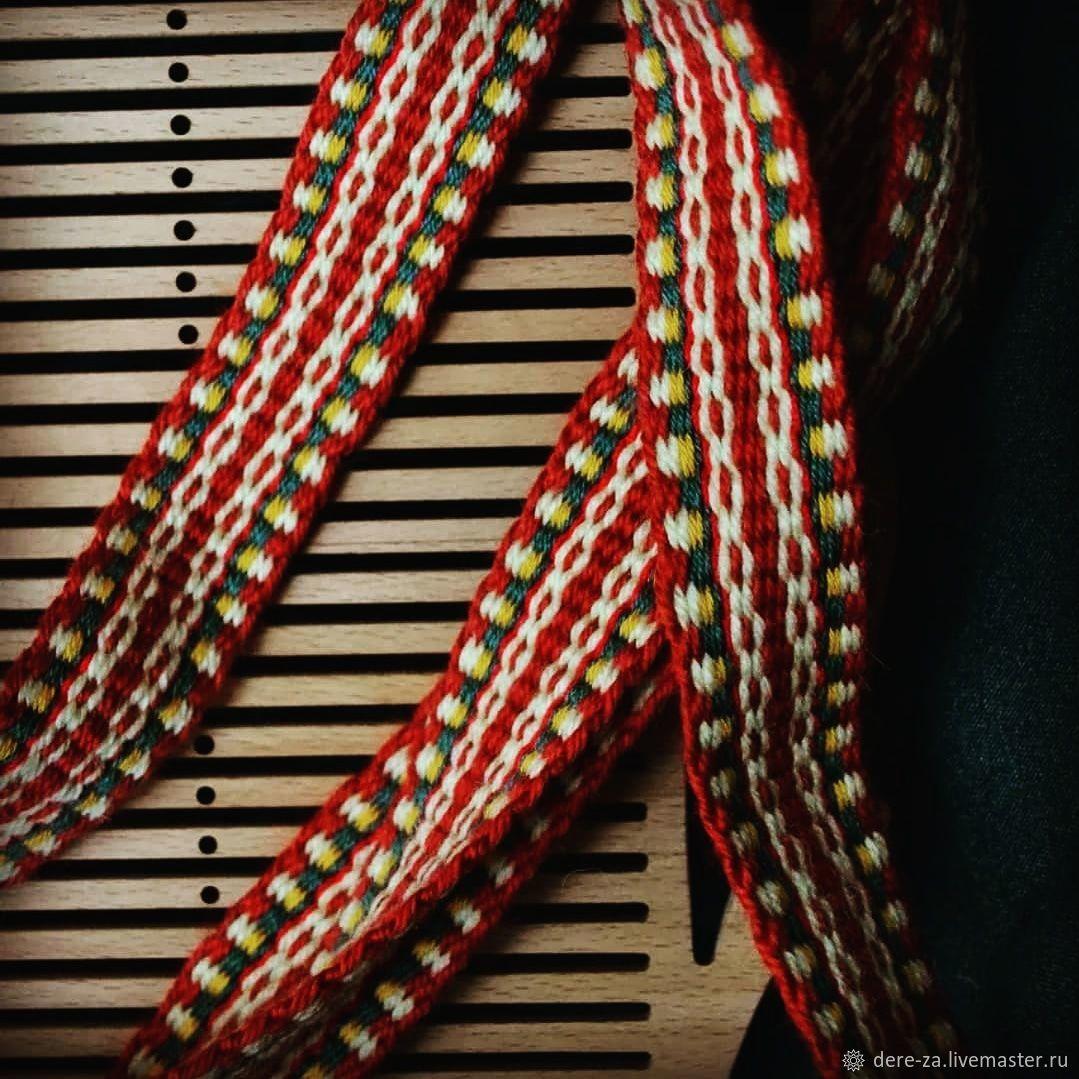 Тканые пояса на бердышке, Пояса очелья тесемки, Подольск,  Фото №1