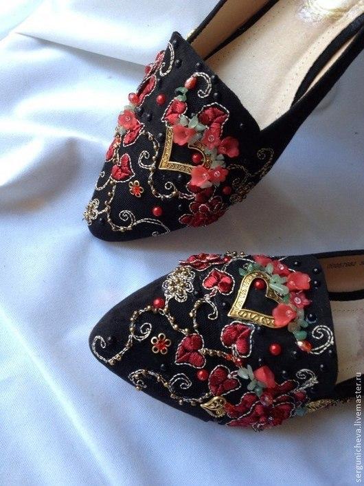 """Обувь ручной работы. Ярмарка Мастеров - ручная работа. Купить Балетки""""Аurora""""в стиле DG. Handmade. В стиле дольче габбана"""