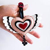 Брелок ручной работы. Ярмарка Мастеров - ручная работа Брелок кожаный сердце. Handmade.