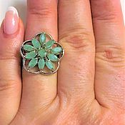 Украшения handmade. Livemaster - original item Ring, natural emeralds