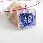 Украшения handmade. Livemaster - original item Glass pendant Tree of life pendant fusing glass. Handmade.
