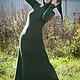 """Платья ручной работы. Ярмарка Мастеров - ручная работа. Купить Зеленое флисовое платье """"Фиона"""". Handmade. Однотонный, сказочное платье"""