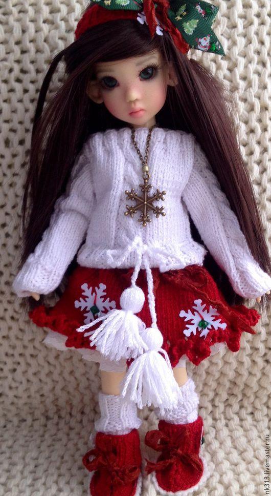 Одежда для кукол ручной работы. Ярмарка Мастеров - ручная работа. Купить Одежда для куклы. Комплект.. Handmade. Бордовый, свитер вязаный
