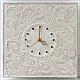 """Часы для дома ручной работы. Ярмарка Мастеров - ручная работа. Купить """"Нежность для Королевы"""" часы из песка настенные. Handmade. Бежевый"""