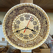 Для дома и интерьера handmade. Livemaster - original item Watch birch bark wall