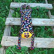 """Для дома и интерьера ручной работы. Ярмарка Мастеров - ручная работа Игрушка-подушка """"Радужный кот"""" яркие кошки на черном №2. Handmade."""