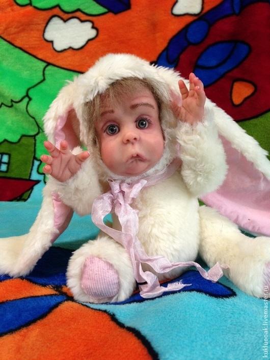Коллекционные куклы ручной работы. Ярмарка Мастеров - ручная работа. Купить Малышка Тедди-долл. Авторская игрушка.. Handmade. Белый