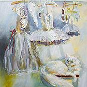 Картины и панно handmade. Livemaster - original item Avant le balle - painting on canvas. Handmade.