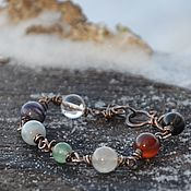 Украшения handmade. Livemaster - original item 7 chakra bracelet - Chakra Harmonizer-rainbow Bracelet