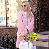 Одежда ручной работы. Ярмарка Мастеров - ручная работа Пальто вязаное розовое. Handmade.