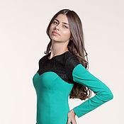 Одежда ручной работы. Ярмарка Мастеров - ручная работа 113: коктейльное платье футляр с кружевом, офисное платье футляр. Handmade.