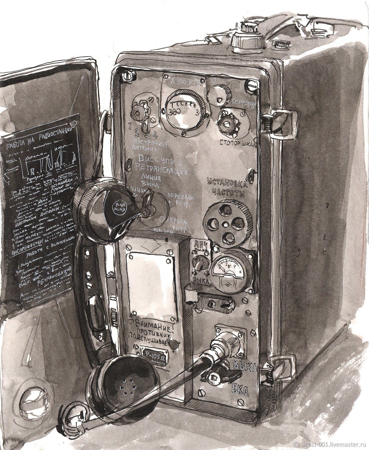R-105D Astra-3 VHF radio station, figure, Pictures, Moscow,  Фото №1