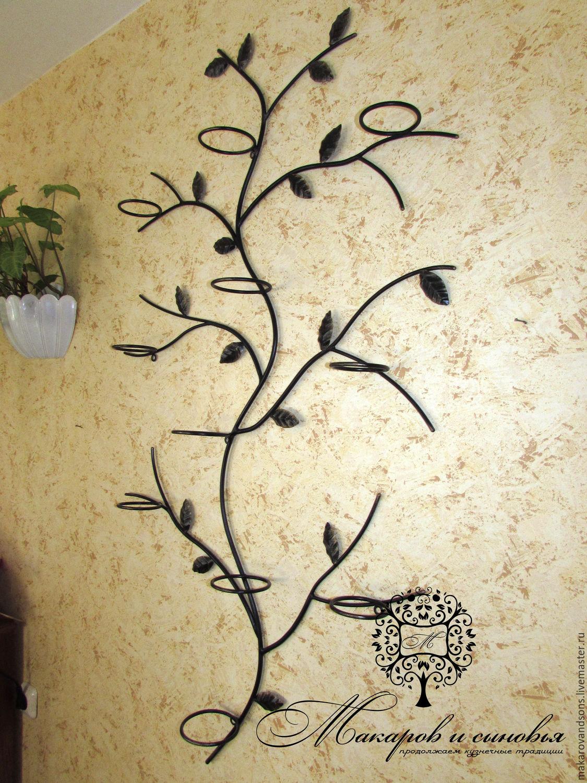 Wrought iron wall shelf flower Tree. Makarov&sons. My - Buy Wrought Iron Wall Shelf Flower Tree - Black, Tree, Forged