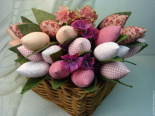 Куклы Тильды ручной работы. Ярмарка Мастеров - ручная работа. Купить Тюльпаны Весна в розовом. Handmade. Розовый, интерьерное украшение