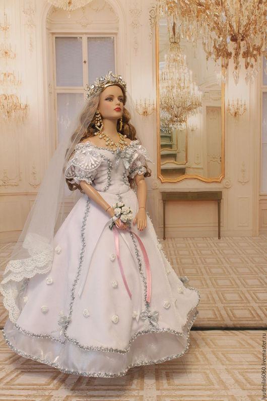 Одежда для кукол ручной работы. Ярмарка Мастеров - ручная работа. Купить Свадебный наряд для куклы Tonner. Handmade. Свадебное платье