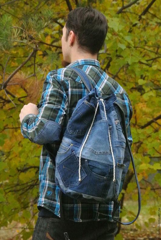 Рюкзаки ручной работы. Ярмарка Мастеров - ручная работа. Купить Рюкзак джинсовый Австралия. Handmade. Рюкзак джинсовый, рюкзак для мальчика