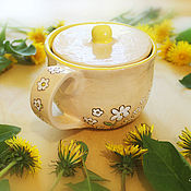 Чайники ручной работы. Ярмарка Мастеров - ручная работа Чашка - чайник 2в1. Handmade.