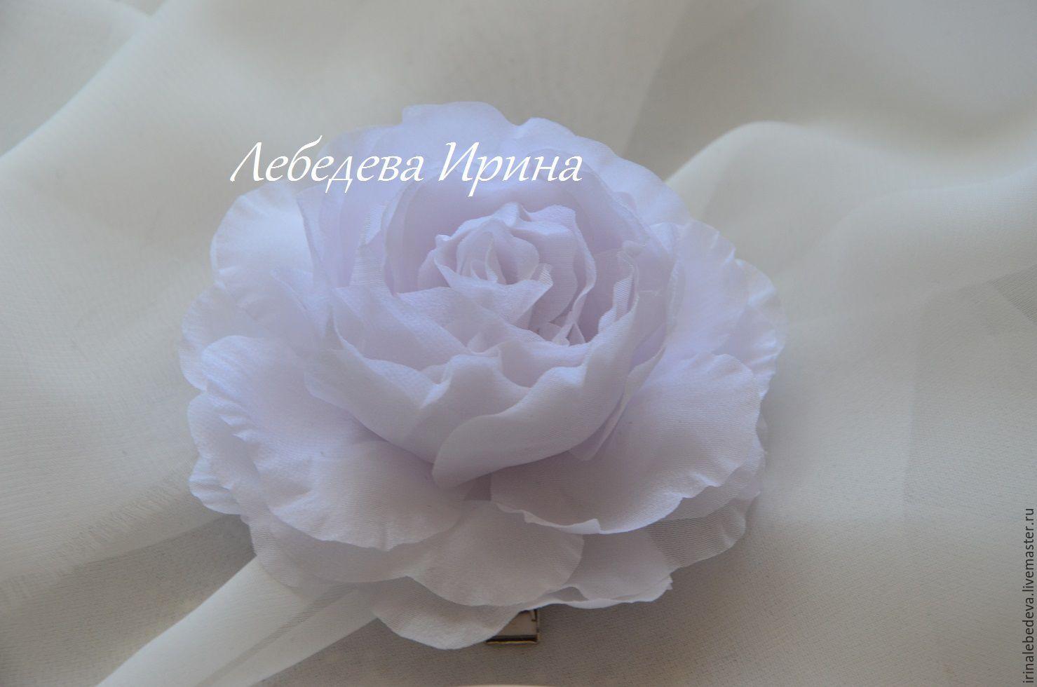 Цветы из шелка. Роза в прическу, Бутоньерки, Москва,  Фото №1