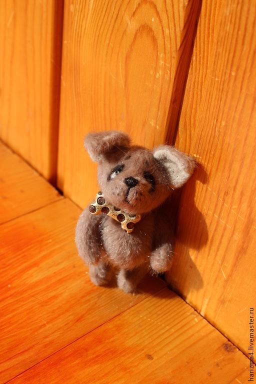 Мишки Тедди ручной работы. Ярмарка Мастеров - ручная работа. Купить Щенок. Handmade. Коричневый, щенок, синтепух