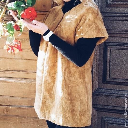 """Жилеты ручной работы. Ярмарка Мастеров - ручная работа. Купить Жилетка осенняя ручной работы """"Осень......"""". Handmade. Рыжий"""