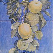Картины ручной работы. Ярмарка Мастеров - ручная работа Антоновка (картина на плитке). Handmade.