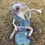 """Куклы и игрушки ручной работы. Ярмарка Мастеров - ручная работа мышь """"Мечтать не вредно!"""". Handmade."""