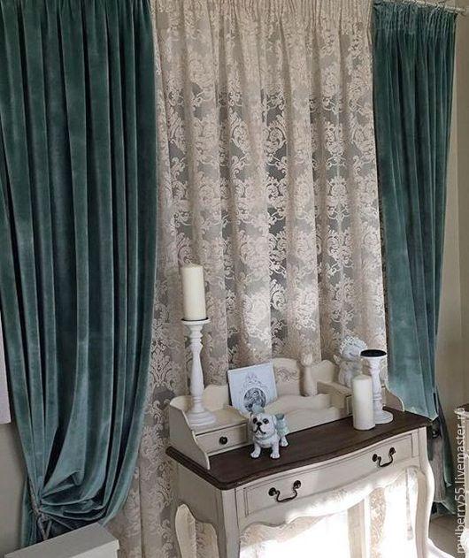 Текстиль, ковры ручной работы. Ярмарка Мастеров - ручная работа. Купить Бархат и тюль (Италия). Handmade. Шторы для гостиной