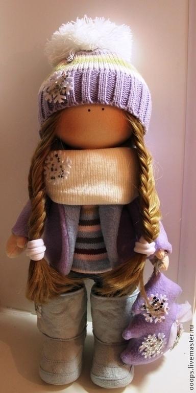 Коллекционные куклы ручной работы. Ярмарка Мастеров - ручная работа. Купить Интерьерная кукла. Handmade. Сиреневый, интерьерная игрушка, трессы