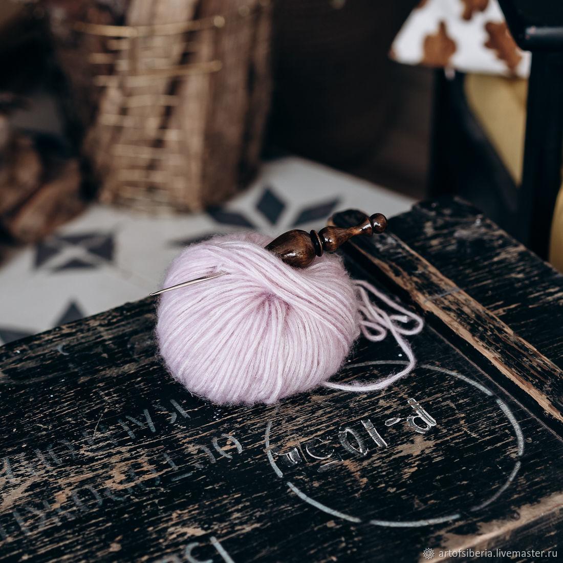 1,6 mm iron crochet hook with wooden handle (cedar) K220, Crochet Hooks, Novokuznetsk,  Фото №1