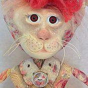"""Куклы и игрушки ручной работы. Ярмарка Мастеров - ручная работа Кошка игрушка """"Дама с птичкой"""". Handmade."""