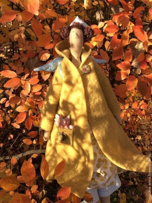 Куклы Тильды ручной работы. Ярмарка Мастеров - ручная работа. Купить Осенний ангел. Handmade. Желтый, тильда ангел
