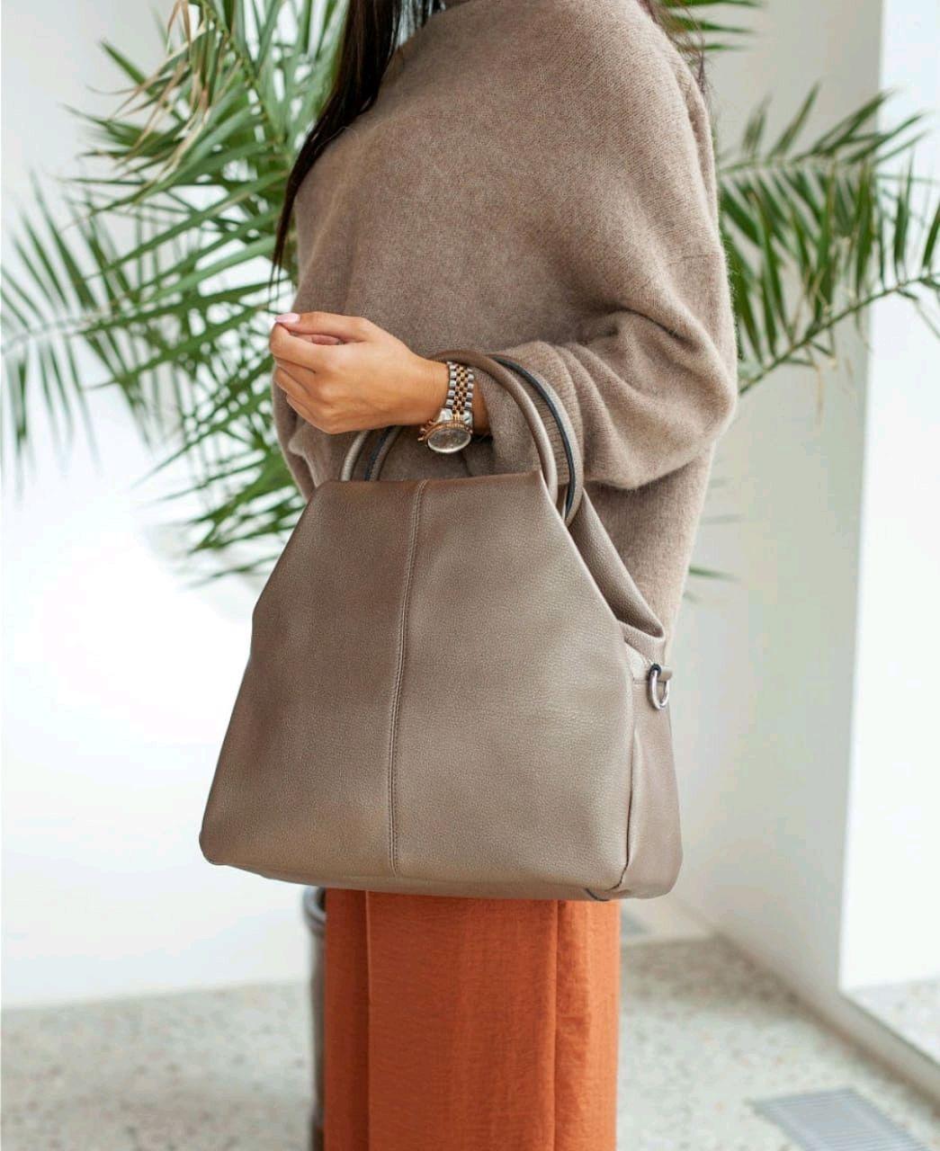 Женская кожаная сумка, Сумка-мешок, Балашиха,  Фото №1