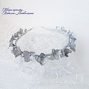 Украшения handmade. Livemaster - original item Band with flowers Hydrangea silver. Flowers in hair. Bezel.. Handmade.