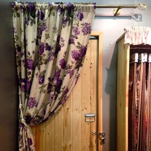 Текстиль, ковры ручной работы. Ярмарка Мастеров - ручная работа. Купить Шторка на кулиске. Handmade. Сиреневый, шторы для кухни
