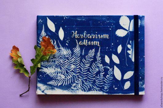 Фотоальбомы ручной работы. Ярмарка Мастеров - ручная работа. Купить Альбом для гербария. Handmade. Синий, альбом для гербария, папоротник, вышивка