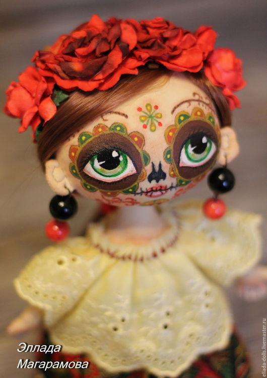 Коллекционные куклы ручной работы. Ярмарка Мастеров - ручная работа. Купить Интерьерная  текстильная кукла Муэрта.. Handmade. Интерьерная кукла