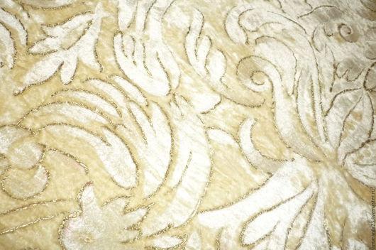 Шитье ручной работы. Ярмарка Мастеров - ручная работа. Купить Ткань старинная, плюш - бархат.. Handmade. Бархат, бежевый цвет