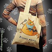 Сумки и аксессуары ручной работы. Ярмарка Мастеров - ручная работа Сумки со злыми котами. Handmade.