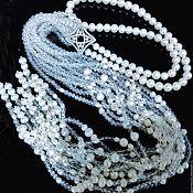 Украшения handmade. Livemaster - original item With pendant with pearl and rock crystal. Handmade.