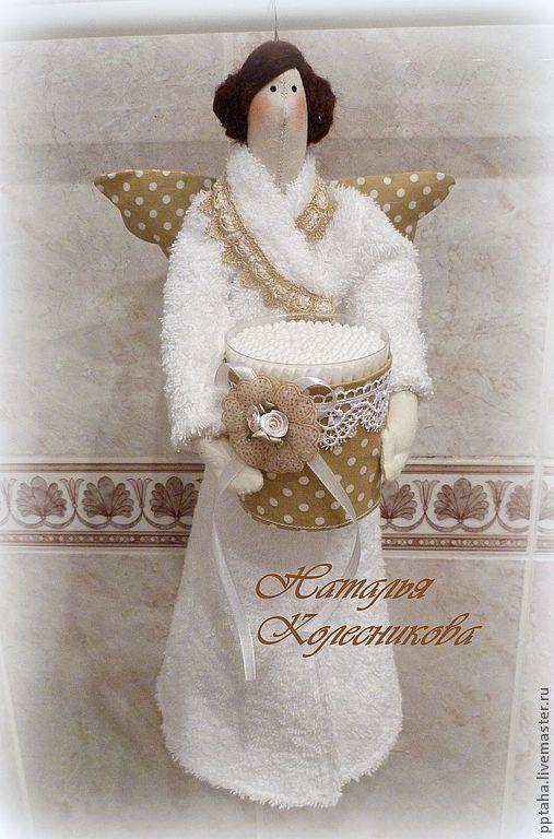 Ванная комната ручной работы. Ярмарка Мастеров - ручная работа. Купить Банный ангел. Хранитель ватных дисков и палочек.. Handmade.