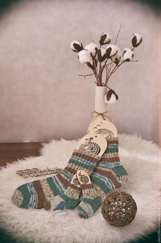 Носки, Чулки ручной работы. Ярмарка Мастеров - ручная работа. Купить Носочки вязаные р.37-38. Handmade. Комбинированный