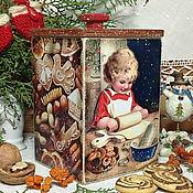 """Подарки к праздникам ручной работы. Ярмарка Мастеров - ручная работа короб для сладостей """"Рождественское печенье"""". Handmade."""