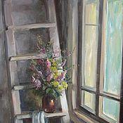 Картины и панно ручной работы. Ярмарка Мастеров - ручная работа Лестница на чердак. Handmade.