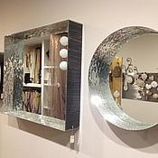 Для дома и интерьера handmade. Livemaster - original item Mirror in mosaic frame, wide. Handmade.