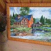 Картины и панно ручной работы. Ярмарка Мастеров - ручная работа Водяная мельница. Handmade.