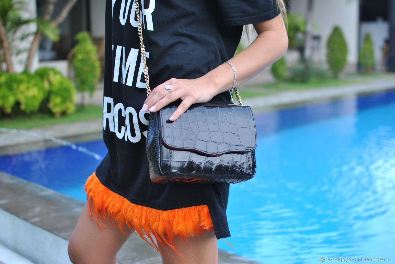 Crocodile leather handbag Lux, Classic Bag, Moscow,  Фото №1