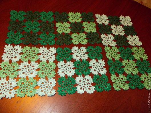 """Текстиль, ковры ручной работы. Ярмарка Мастеров - ручная работа. Купить Комплект салфеток""""Зелень лета"""". Handmade. Зеленый, подарок"""
