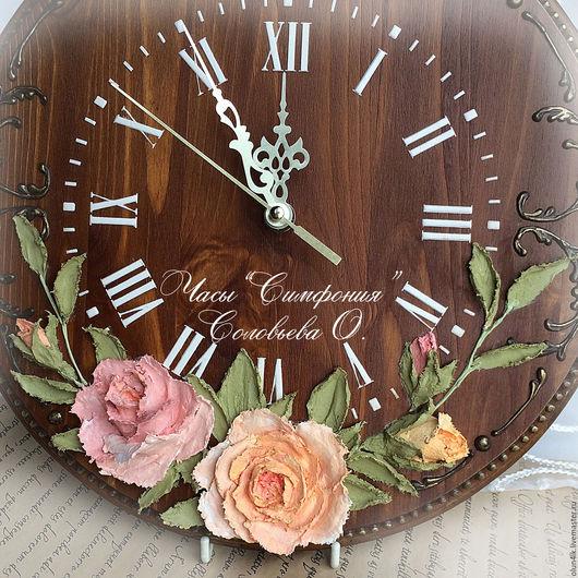 """Часы для дома ручной работы. Ярмарка Мастеров - ручная работа. Купить Часы """"Симфония"""". Handmade. Часы, дача, золото"""