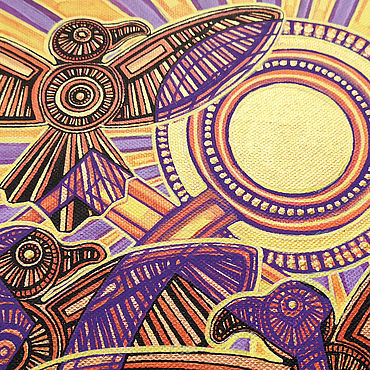 """Картины и панно ручной работы. Ярмарка Мастеров - ручная работа Картина акрилом, """"Полёт"""", 41х27 см, холст на подрамнике. Handmade."""
